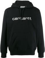 Carhartt Wip logo embroidered hoodie
