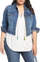 Melissa McCarthy Plus Size Women's Crop Denim Jacket