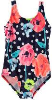 Osh Kosh OshKosh Floral Polka Dot Swimsuit