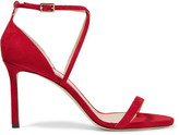 Jimmy Choo Hesper Suede Sandals - Red