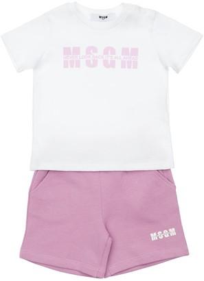 MSGM Cotton T-Shirt & Shorts