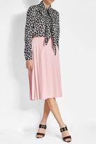 Victoria Beckham Side Pleated Crepe Skirt