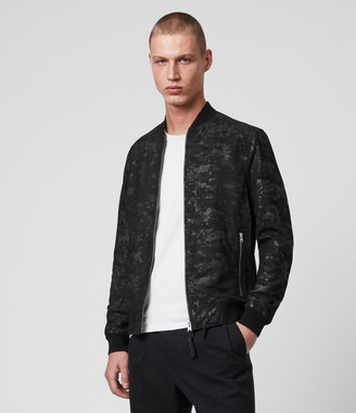 AllSaints Kirk Leather Bomber Jacket