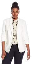 Vince Camuto Women's Plus-Size One-Button Blazer