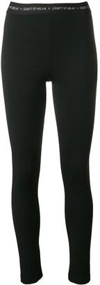 Marcelo Burlon County of Milan waistband logo leggings