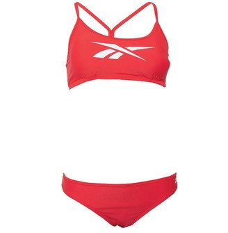 Reebok Womens Alanna Two Piece Swimsuit Radiant Red