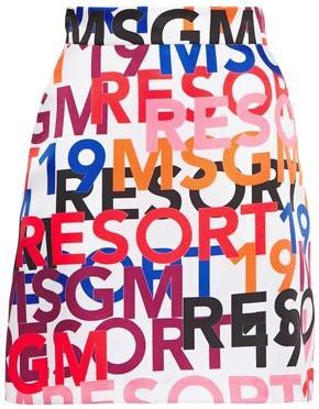 MSGM Logo-print Twill Mini Skirt