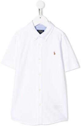 Ralph Lauren Kids embroidered logo cotton shirt