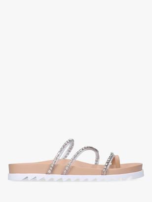 Carvela Kalling Embellished Flat Sandals, Nude