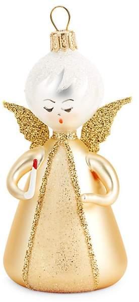 De Carlini De Carlini Soffieria de Carlini Metallic Angel With Candle Ornament
