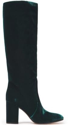 Gianvito Rossi Regan Velvet Knee Boots