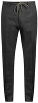 Kenzo Slim-leg wool-flannel trousers