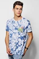 boohoo Tie Dye Palmz Print T-Shirt