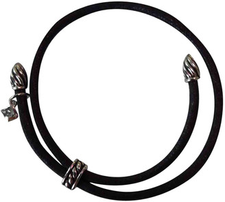 David Yurman Black Cloth Bracelets