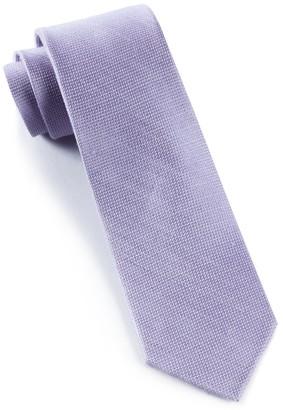 Tie Bar Solid Linen Lavender Tie