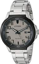 Citizen Men's Ar (Action Required) AW1461-58H Wrist Watches, Grey Dial