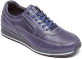 Rockport Navy Mudguard Leather Sneaker - Men