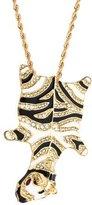 Kenneth Jay Lane Zebra Pendant Necklace