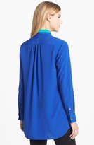 Vince Camuto Two by Colorblock Roll Tab Sleeve Blouse