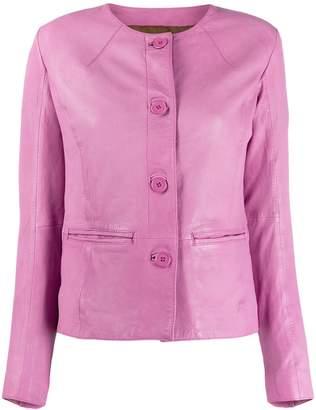 S.W.O.R.D 6.6.44 collarless slim-fit jacket