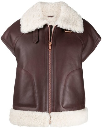 See by Chloe Aviator Shearling Gilet