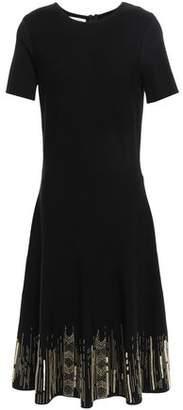 Oscar de la Renta Embellished Knitted Dress