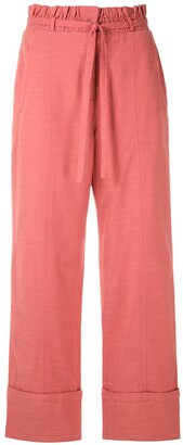 Framed Greta tie waist trousers