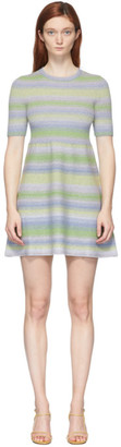Marc Jacobs Multicolor Lurex Striped Dress