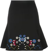 Peter Pilotto embroidered a-line skirt