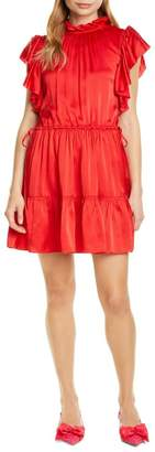 Kate Spade Tiered High Neck Silk Blend Dress