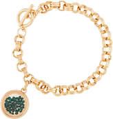 Lydell NYC Emerald Round Shaker Bracelet