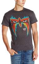 WWE Men's Ultimate Warrior Mask T-Shirt, Charcoal, XX-Large