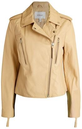 Derek Lam 10 Crosby Pebbled Leather Moto Jacket