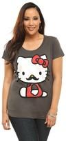 Hello Kitty Doe Mustache Scoop Neck Tee