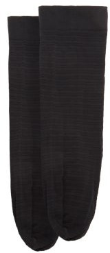Wolford Hilaritas Striped 30-denier Socks - Black