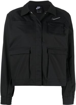 Nike woven Swoosh logo jacket