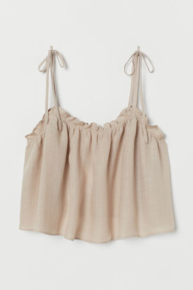 H&M Short frill-trim strappy top