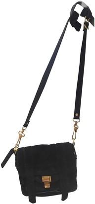 Proenza Schouler PS1 Touch Navy Suede Handbags