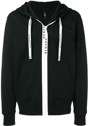 Versus logo twill tape hoodie