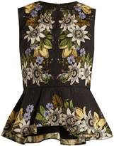 Erdem Queenie floral-print high-neck peplum top