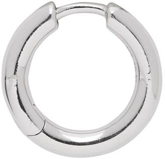 Maria Black Silver Single Polo Huggie Earring