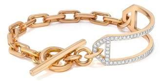 Walters Faith Saxon 18K Diamond Side Cuff Chain Link Toggle Bracelet