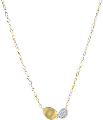 Marco Bicego Lunaria Two-Pendant Diamond Necklace