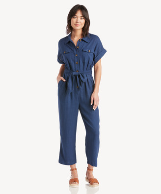 Lost + Wander Women's Out Of The Blue Jumpsuit In Color: Navy Size XS From Sole Society