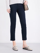 Vince Mid-rise skinny cotton-twill trousers