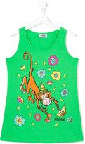 Moschino Kids - monkey tank top - kids - Cotton/Spandex/Elastane - 14 yrs