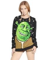Jeremy Scott Shrek Printed Heavy Cotton Sweatshirt