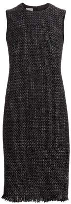 Akris Punto Sleeveless Tweed Sheath Dress
