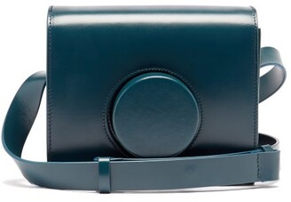 Lemaire Camera Mini Leather Cross-body Bag - Dark Blue