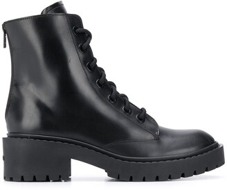 Kenzo Lace-Up Combat Boots